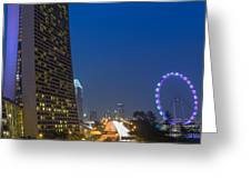 Singapore Evening Greeting Card by Mountain Dreams