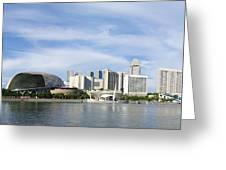 Singapore Waterfront Greeting Card by Mountain Dreams