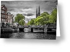 Singel Amsterdam Greeting Card by Melanie Viola