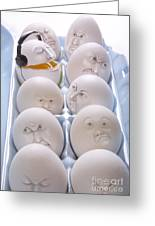 Singing Egg Greeting Card by Diane Diederich