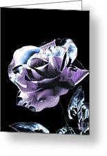 Single Rose V Greeting Card by Annie Zeno