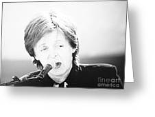Sir Paul In Monochrome Greeting Card by Tina M Wenger