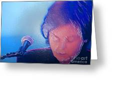Sir Paul W Rapped Greeting Card by Tina M Wenger