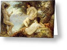 Sirens Greeting Card by Ignace Henri Jean Fantin-Latour