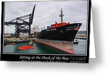 Sitting At The Dock Of The Bay Greeting Card by Tikvah's Hope