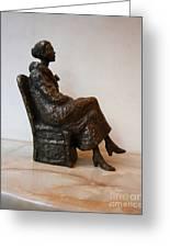 Sitting Girl Greeting Card by Nikola Litchkov