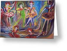 Six Eight Waltz Greeting Card by Judith Desrosiers