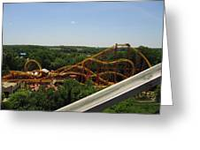 Six Flags America - Wild One Roller Coaster - 121211 Greeting Card by DC Photographer