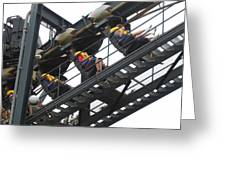 Six Flags Great Adventure - Medusa Roller Coaster - 12123 Greeting Card by DC Photographer