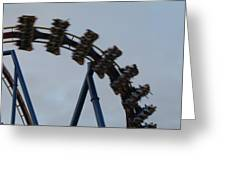 Six Flags Great Adventure - Medusa Roller Coaster - 12126 Greeting Card by DC Photographer