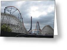 Six Flags Magic Mountain - 121211 Greeting Card by DC Photographer