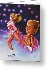 Skaters Dream Greeting Card by Dick Bobnick