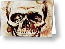 Skull Greeting Card by Anastasiya Malakhova