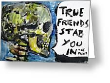 Skull Quoting Oscar Wilde.2 Greeting Card by Fabrizio Cassetta