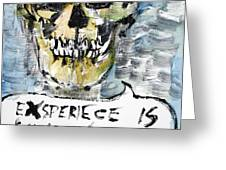 SKULL quoting OSCAR WILDE.4 Greeting Card by Fabrizio Cassetta