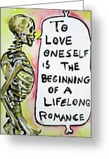 Skull Quoting Oscar Wilde.9 Greeting Card by Fabrizio Cassetta
