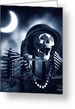 Skull Greeting Card by Tony Cordoza