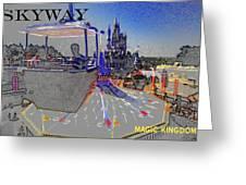 Skway Magic Kingdom Greeting Card by David Lee Thompson
