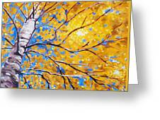Sky Birch Greeting Card by Nancy Merkle