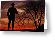 Sky Fire - Brigadier General John Buford - Commanding First Division Cavalry Corps Sunset Gettysburg Greeting Card by Michael Mazaika