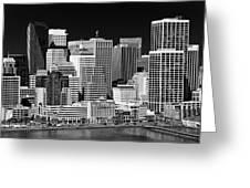 Skyline San Francisco Greeting Card by Ralf Kaiser