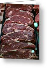 Slabs Of Raw Meat - 5d20691 Greeting Card by Wingsdomain Art and Photography