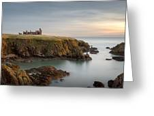 Slains Castle Sunrise Greeting Card by Dave Bowman