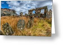 Slate Mine Ruins Greeting Card by Adrian Evans
