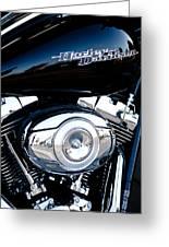 Sleek Black Harley Greeting Card by David Patterson