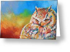 Sleepy Contemplation Greeting Card by Arie Van der Wijst