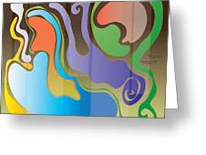 Slick 12b Greeting Card by Rom Francis