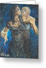 Slow Dancing 1 Greeting Card by Nik Helbig