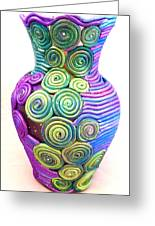 Small Filigree Vase Greeting Card by Alene Sirott-Cope