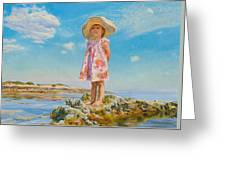 Small Island Greeting Card by Victoria Kharchenko