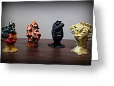 Small Sculptures  Greeting Card by Wynter Peguero
