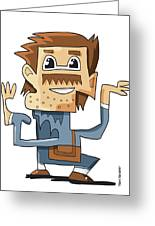 Smart Guy Doodle Character Greeting Card by Frank Ramspott