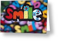 Smile Greeting Card by Tim Gainey