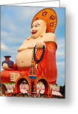 smiling Buddha Greeting Card by Adrian Evans