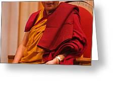Smiling Dalai Lama Greeting Card by Craig Lovell