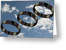 Smoke Rings In The Sky 1 Greeting Card by Steve Purnell
