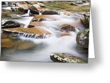 Smokey Mountain Creek Greeting Card by Adam Romanowicz