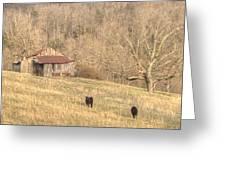Smoky Mountain Barn 8 Greeting Card by Douglas Barnett