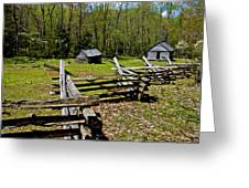 Smoky Mountain Cabins Greeting Card by Paul W Faust -  Impressions of Light