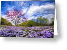 Smoky Mountain Spring Greeting Card by Debra and Dave Vanderlaan
