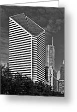 Smurfit-stone Chicago - Now Crain Communications Building Greeting Card by Christine Till