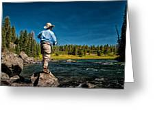 Snake River Cast Greeting Card by Ron White