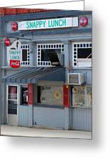 Snappy Lunch Mt. Airy Nc Greeting Card by Bob Pardue