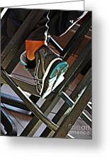 Sneaker Greeting Card by Sarah Loft