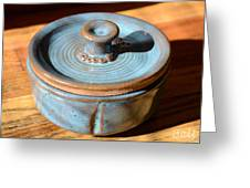 Snickerhaus Pottery-vessel With Lid Greeting Card by Christine Belt