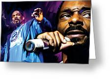 Snoop Dogg Artwork Greeting Card by Sheraz A